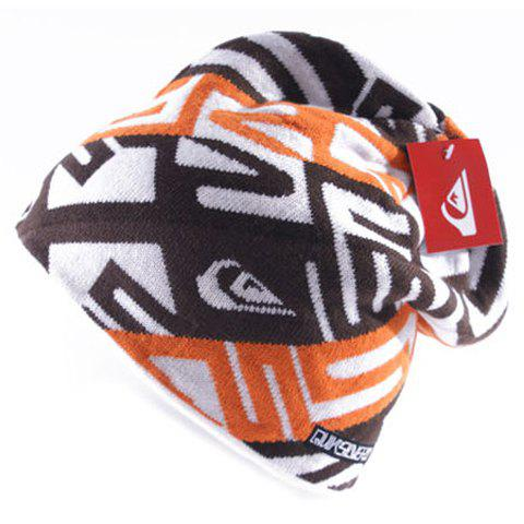 Stylish Geometric Pattern Thicken Men's Knitted Beanie - RANDOM COLOR