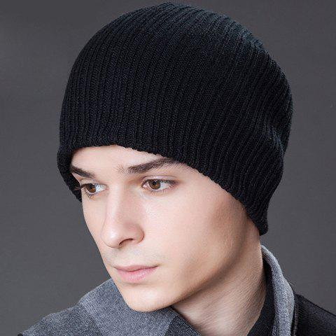 Stylish Solid Color Thicken Men's Skiing Beanie