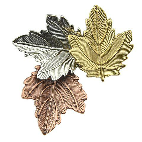 Alloy Maple Leaf Shape Brooch - COLORMIX