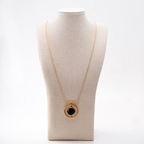 Trendy Faux Rammel Round Hollow Out Sweater Chain For Women - GOLDEN