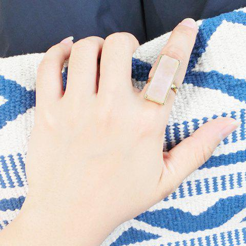 Trendy Faux Powder Crystal Geometric Ring For Women - GOLDEN ONE-SIZE