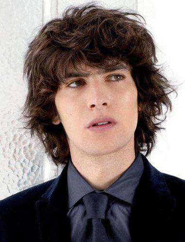 Vogue Deep Brown Full Bang Capless Handsome Short Synthetic Shaggy Curly Wig For Men - DEEP BROWN