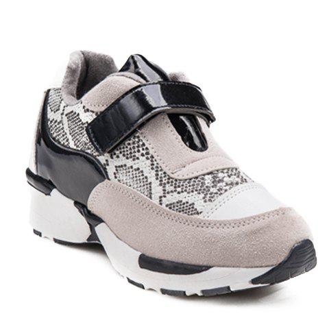 trendy splicing and design athletic shoes for black