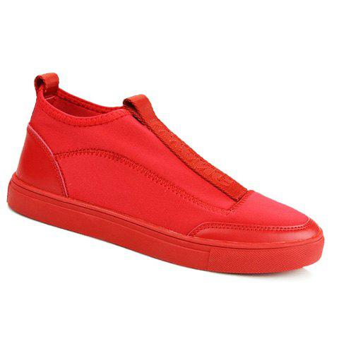 Simple Stitching and Splicing Design Casual Shoes For Men - RED 40