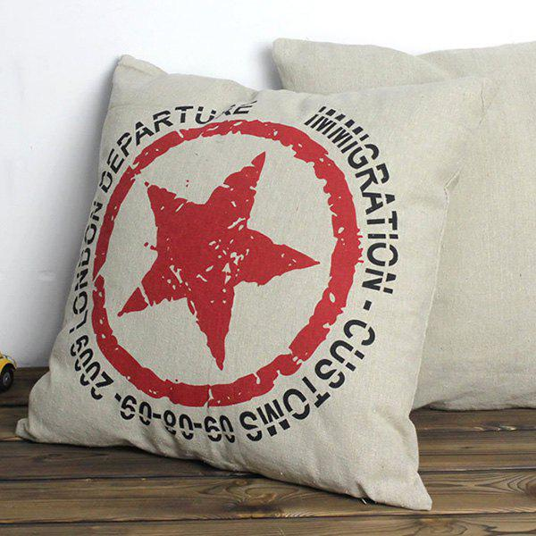 Stylish Star Pattern Pillow Case(Without Pillow Inner) - WHITE