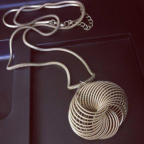 Chic Pure Color Round Twisted Sweater Chain For Women - SILVER