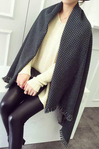 Chic Small Dots and Cross Pattern Fringed Pashmina For Women