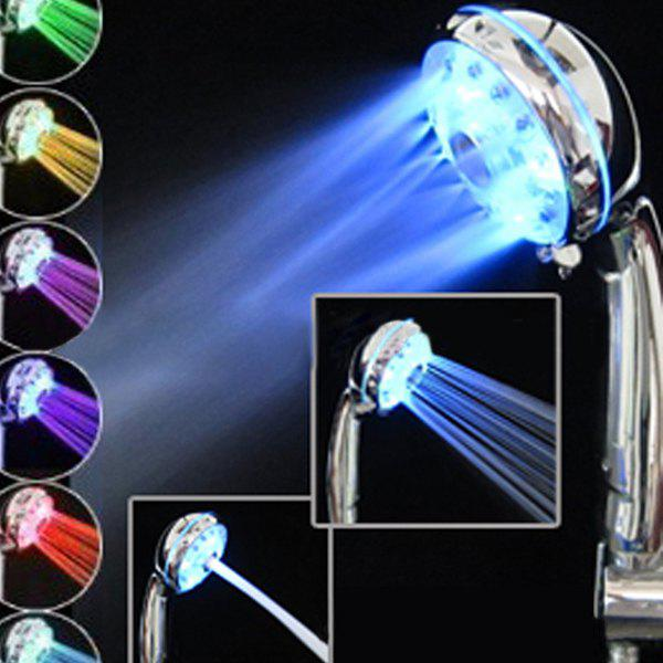 Quality 7 Colors LED Light Shower Head - SILVER