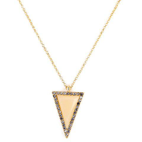 Charming Rhinestoned Triangle Shape Sweater Chain For Women - GOLDEN