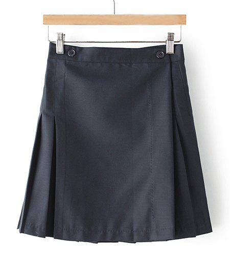 High Waist Candy Color Tennis Skirt For Women - CADETBLUE XS