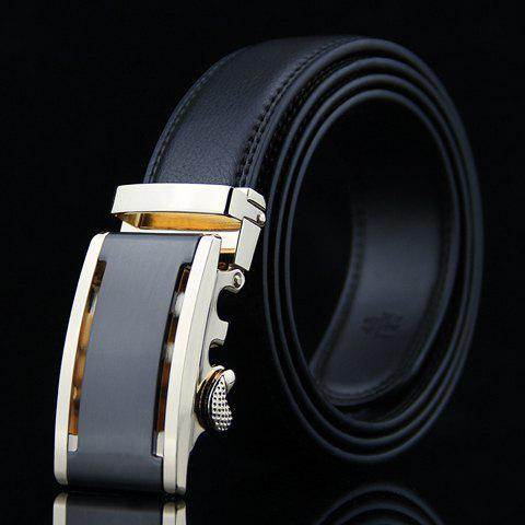 Stylish Hollow Out Metal Auto Buckle Wide Belt For Men