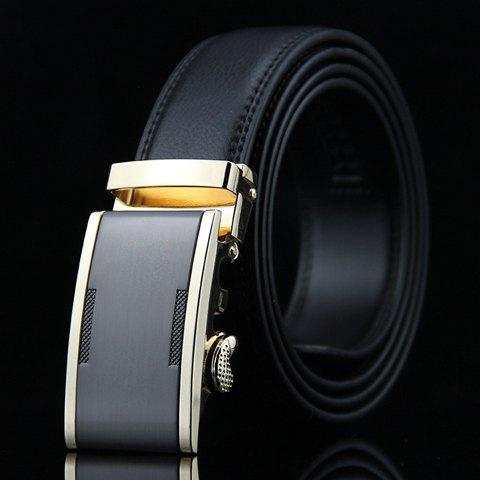Stylish Metal Automatic Buckle Formal Wide Belt For Men