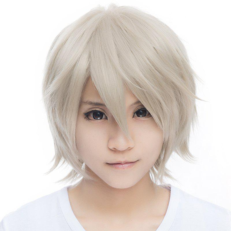 Outstanding Miketsukami Soushi Vogue Short Haircut Fluffy Straight Synthetic Cosplay Wig - SILVER GRAY