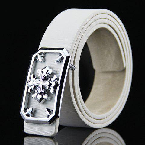 Stylish Hollow Out and Retro Cross Shape Embellished Wide Belt For MenAccessories<br><br><br>Color: WHITE