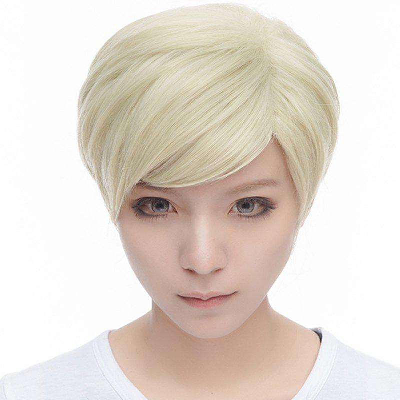 Anime Erwin Smith Short Stunning Light Blonde Ombre Brown Nobby Straight Side Bang Cosplay Wig толстовка element smith zh gold brown
