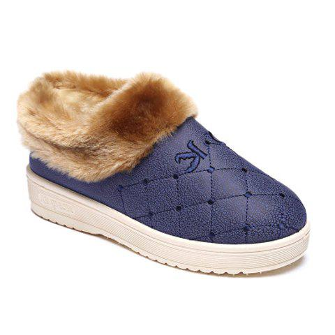 Stylish Plaid and Platform Design House Slippers For Women - SAPPHIRE BLUE 38