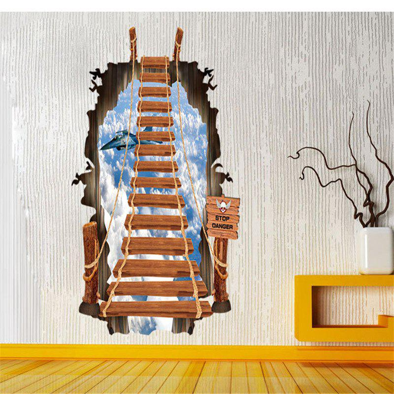 Beautiful 3D Stairs Style Removable PVC Wall Stickers Colorful Room Window Decoration 3d horse rushing window living room decoration wall stickers