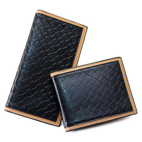 Stylish Weaving and PU Leather Design Women's Wallet