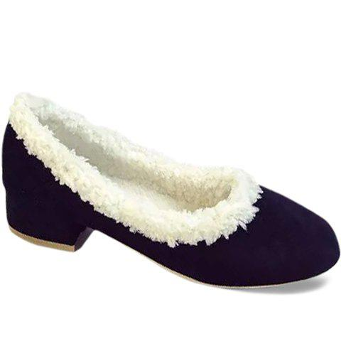 Stylish Round Toe and Pure Colour Design Flat Shoes For Women