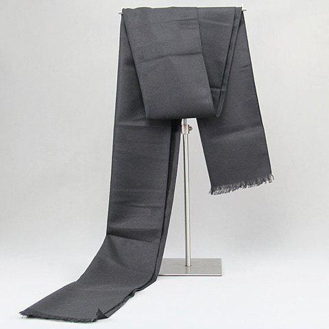 Stylish Fringed Edge Black Grey Warmth Scarf For Men