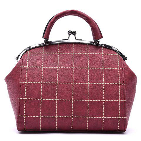 Trendy Argyle and Metal Design Tote Bag For Women - RED
