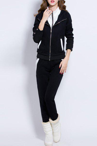 цены  Active Women's Hooded Long Sleeve Zip Up Hoodie and Pants Suit