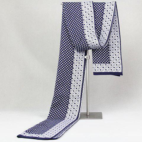 Stylish Retro Plaid and Polka Dot Pattern Scarf For Men