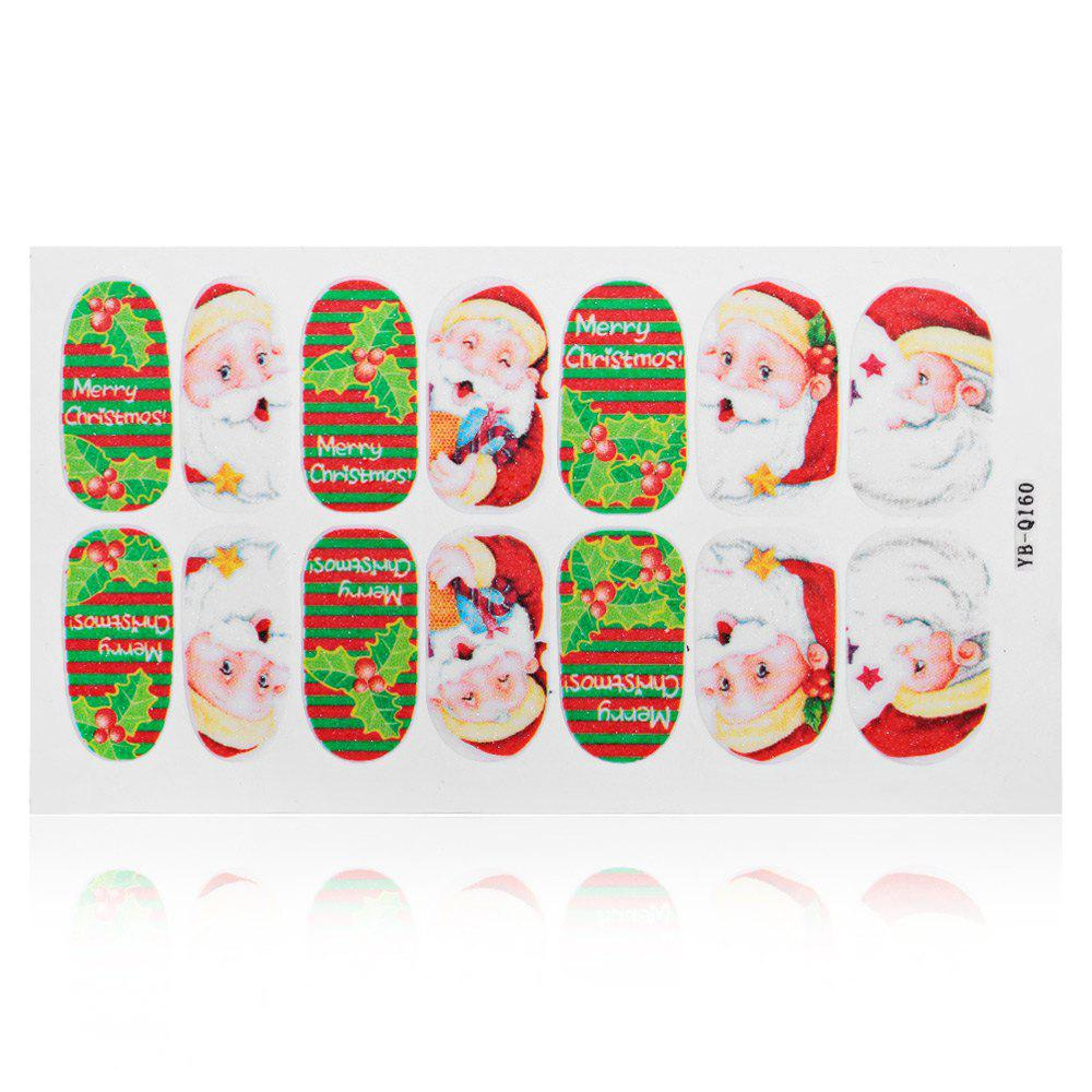 12 Color 3D Christmas Nail Art Polish Decal Nail Sticker
