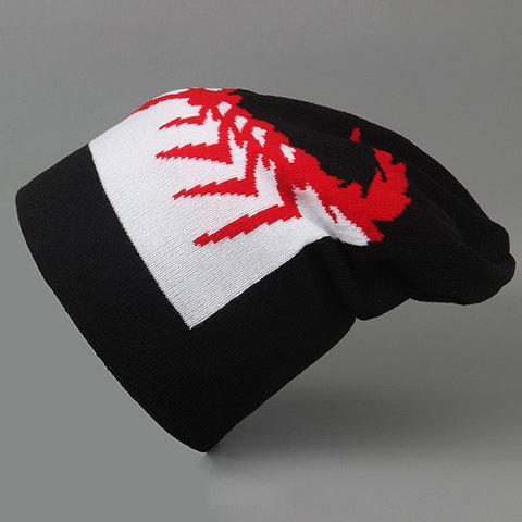 Stylish Handpainted Scorpion Pattern Knitted Beanie For Men