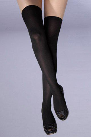 Chic Two Color Matching Pantyhose For Women - BLACK