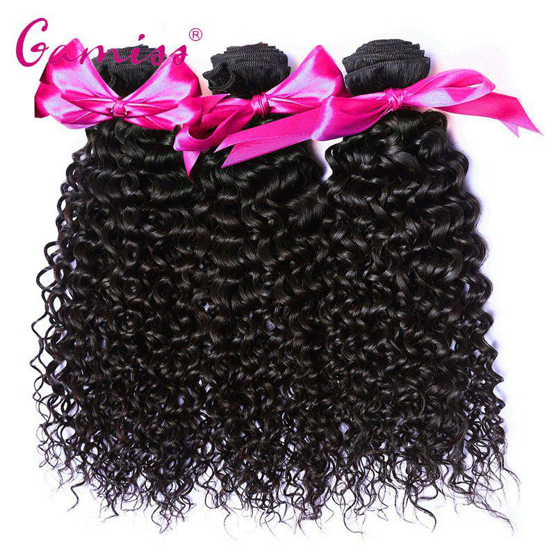 3pcs Burmese Virgin Kinky Curly Human Hair Weave Extension - BLACK 12INCH*12INCH*14INCH