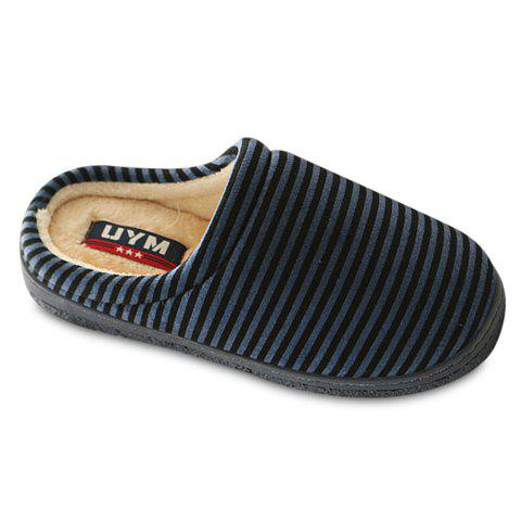 Fashion Stripes and Flock Design Slippers For Men
