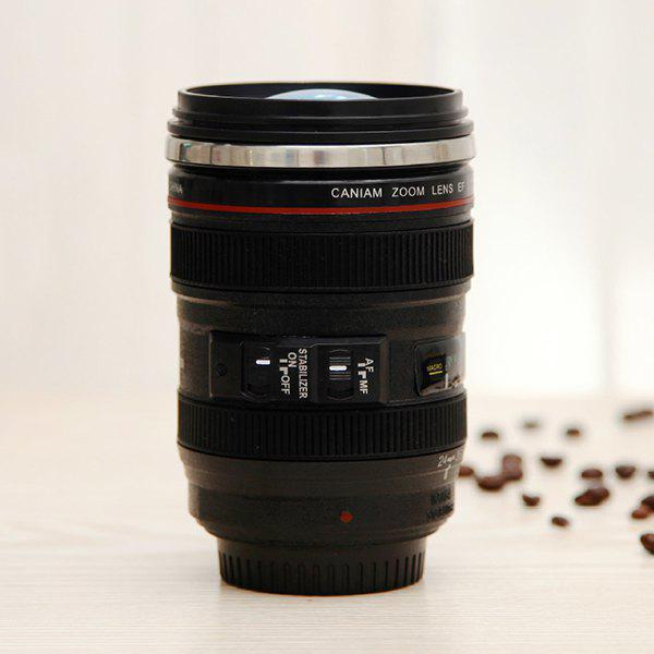 Creative 300ML High Quality Camera Lens Shape Special Valentine Gift Cup - BLACK