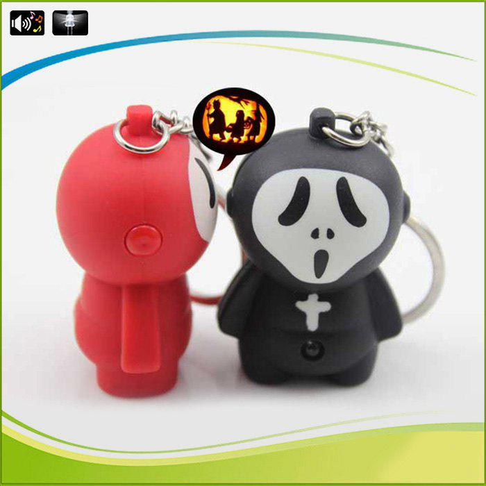 SANLIAN SL03097 Key Chain Ghostface Style Figure Key Ring with Light / Sound