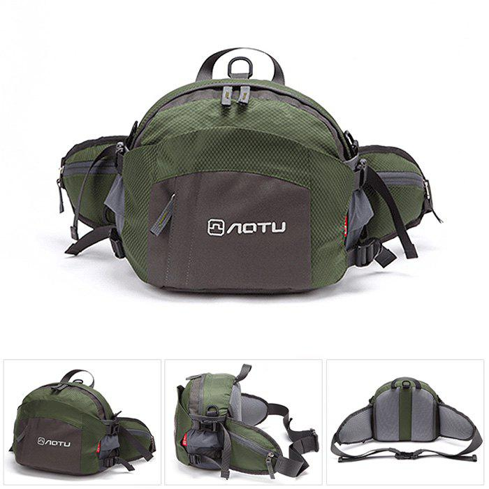 8L AOTU Waist Bag with Breathable Honeycomb-shaped Inter-layer - ARMY GREEN
