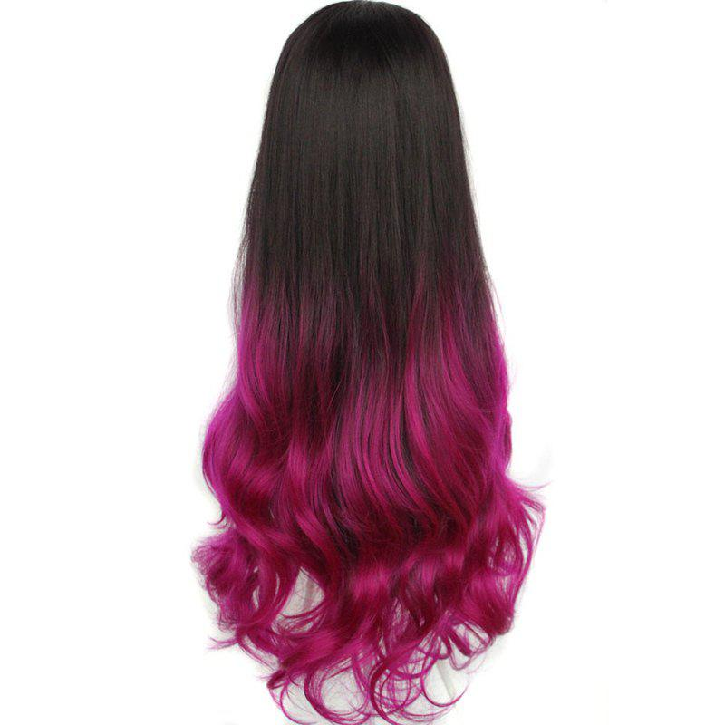 Ladylike Long Capless Fluffy Wave Synthetic Assorted Color Women's Half Wig - 2R3