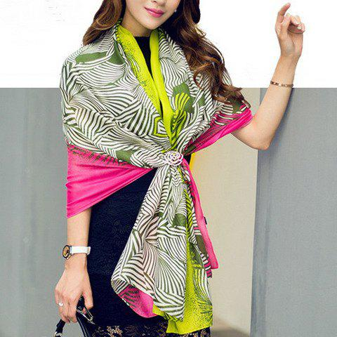 Chic Various Stripes Pattern Women's Thin Scarf - ROSE