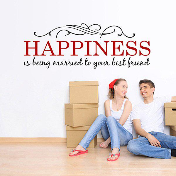 New Letter Happiness Removable Wall Stickers For Living Rooms