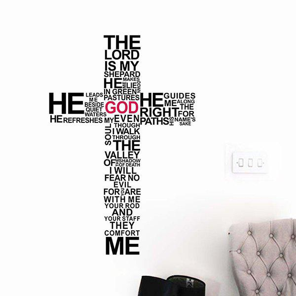 CuteRemovable Cross Words Composing Wall Stickers For Living Rooms - RED/BLACK