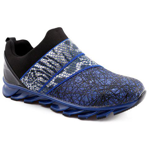 Fashion Snake Print and Slip-On Design Athletic Shoes For Men
