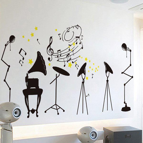 Sweet Removable Musical Instrucment Wall Stickers For Classrooms - COLORMIX