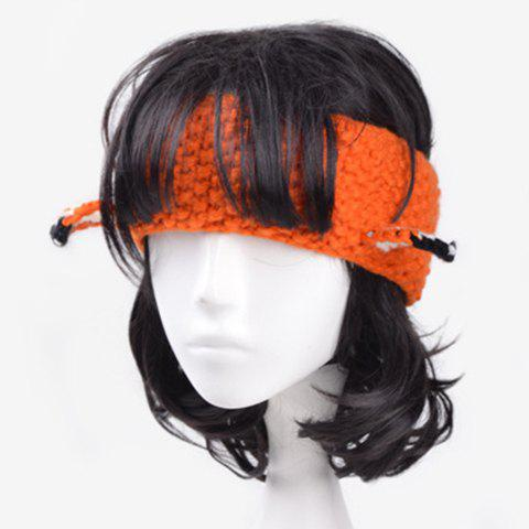 Fashionable Fox Ear Embellished Women's Knitted Headband - ORANGE