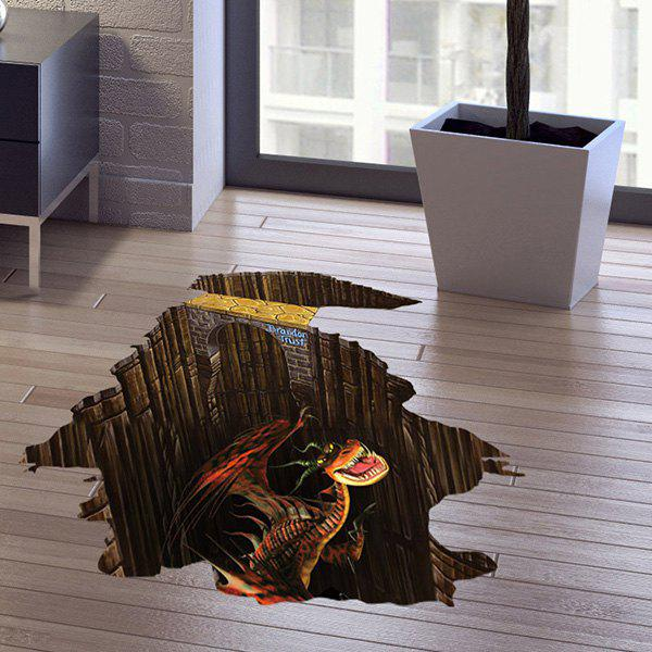 Dinosaur Pattern 3D Floor Wall Sticker Home Decoration - COLORMIX