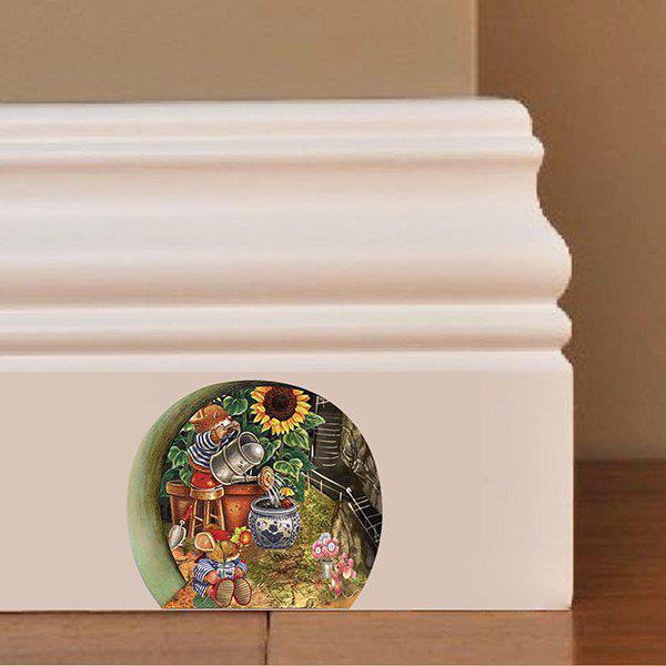 Good Quality Mouse Hole Pattern Removeable 3D Wall Sticker - COLORMIX