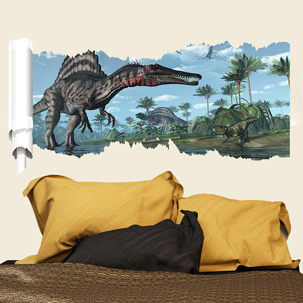 Good Quality Dinosaur Pattern Waterproof 3D Wall Sticker - COLORMIX