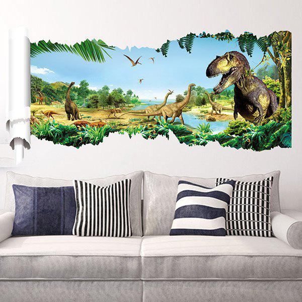 Good Quality Dinosaur Pattern Waterproof Removeable 3D Wall Sticker fashion letters and zebra pattern removeable wall stickers for bedroom decor