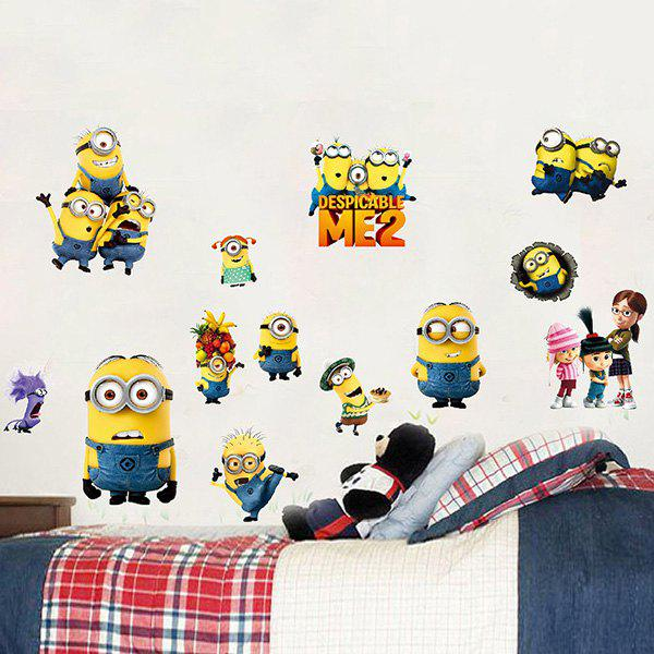 High Quality Minions Pattern Removeable Waterproof 3D Wall Sticker - COLORMIX