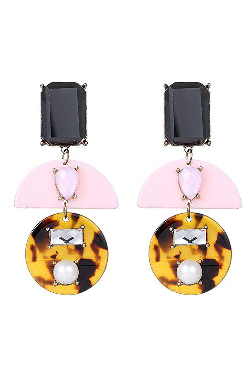 Pair of Chic Jewelry Geometry Earrings For Women - COLORMIX