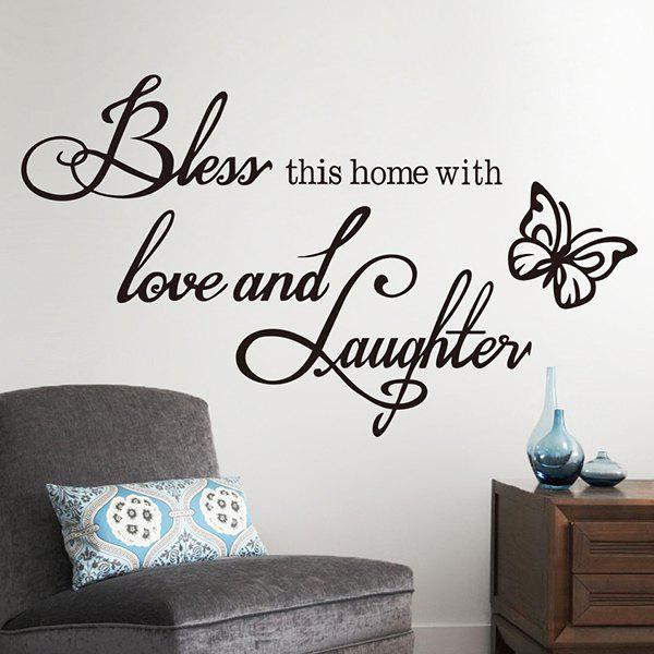 Good Quality Letter Butterfly Pattern Removeable Wall Sticker