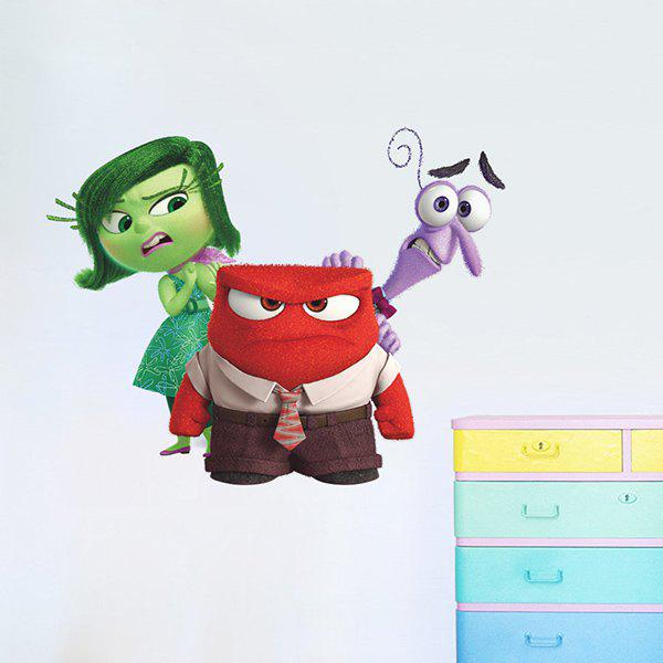Good Quality Colorful Cartoon Character Pattern Removeable Wall Sticker - COLORMIX